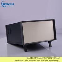 Iron enclosures for electronics project box diy junction box big metallic distribution box aluminum enclosure 400*350*200mm