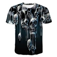 Mens Tops tee Men Short Sleeve Shirt Fashion 3D Print Skulls Printing Hip hop T-shirt 2019 Latest Casual Breathable Te