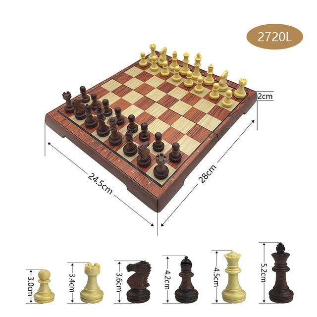 Jeu de société magnétique International, jeu d'échecs exquis, pliable en plastique, cadeau et divertissement 5