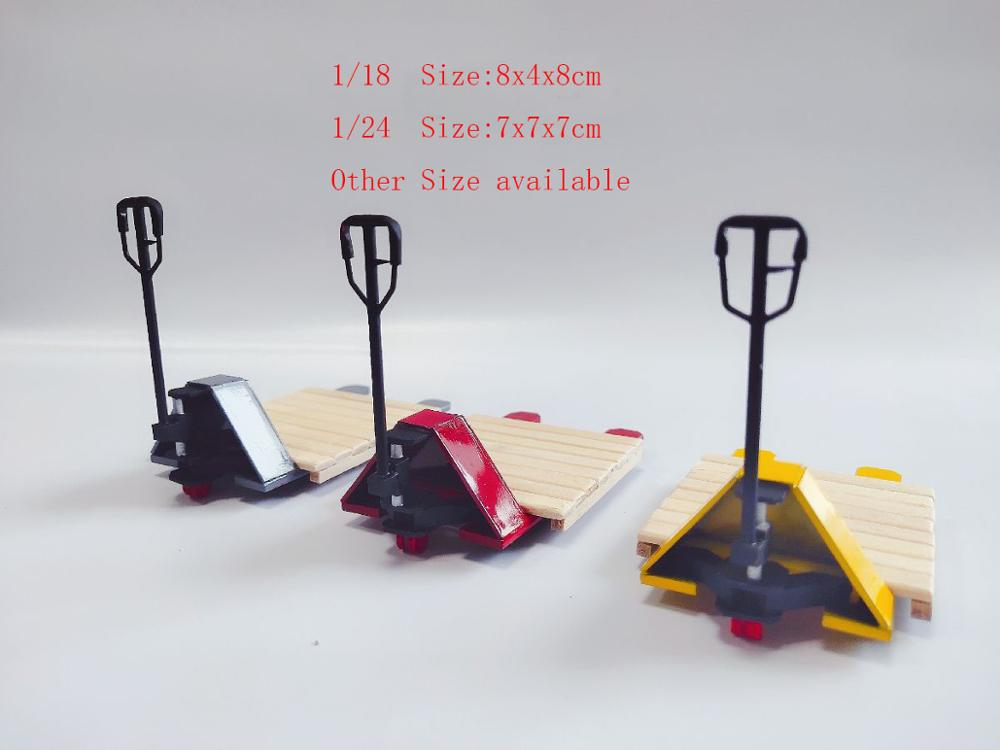 1:18 1/24 Plastic Hand Carrier Pallet Truck Maintenance Props Repair Tools Repair Model Car Scene Props