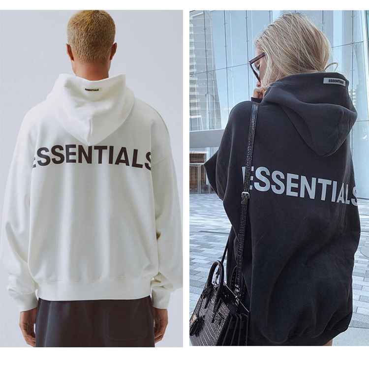 Fog double thread essentials embroidered reflective mens and womens clothing hoodie high street top 100% cotton high quality