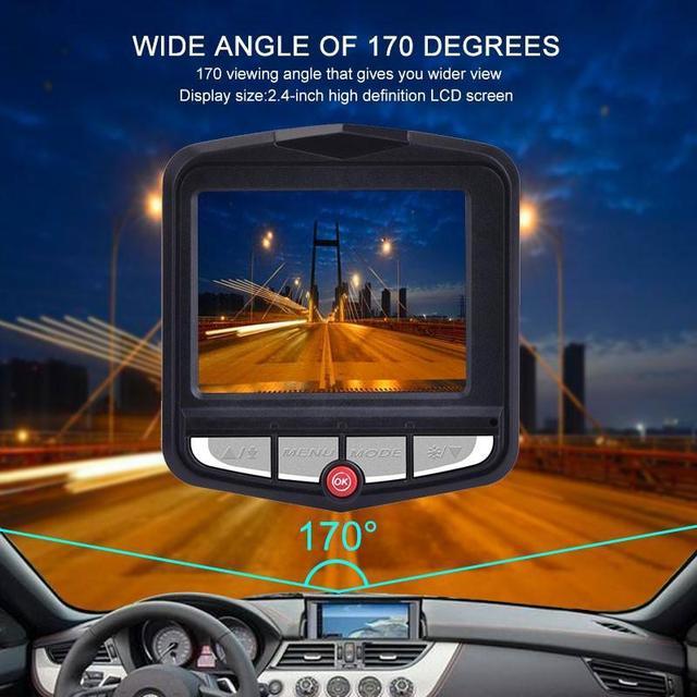 Kamera na deskę rozdzielczą Full HD 1080P samochodowy rejestrator wideo kamera na deskę rozdzielczą era DVR Mini noktowizor rejestrator wideo g-sensor WDR kamera na deskę rozdzielczą