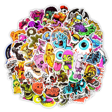 50 Pcs Horror Sticker Mixed Cartoon Toy for Car Styling Bike Motorcycle Phone Laptop Travel Luggage Cool