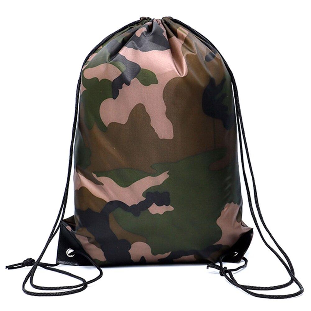 NEW Camouflage Backpack Drawstring Gym Bag Travel Sport Outdoor Bag Lightweight