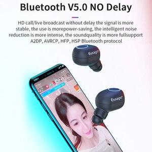 Image 3 - Essager T1 Tws Bluetooth 5.0 Oortelefoon Mini True Draadloze Oordopjes Hoofdtelefoon Met Mic Sport Draadloze Handsfree Headset Voor Telefoon