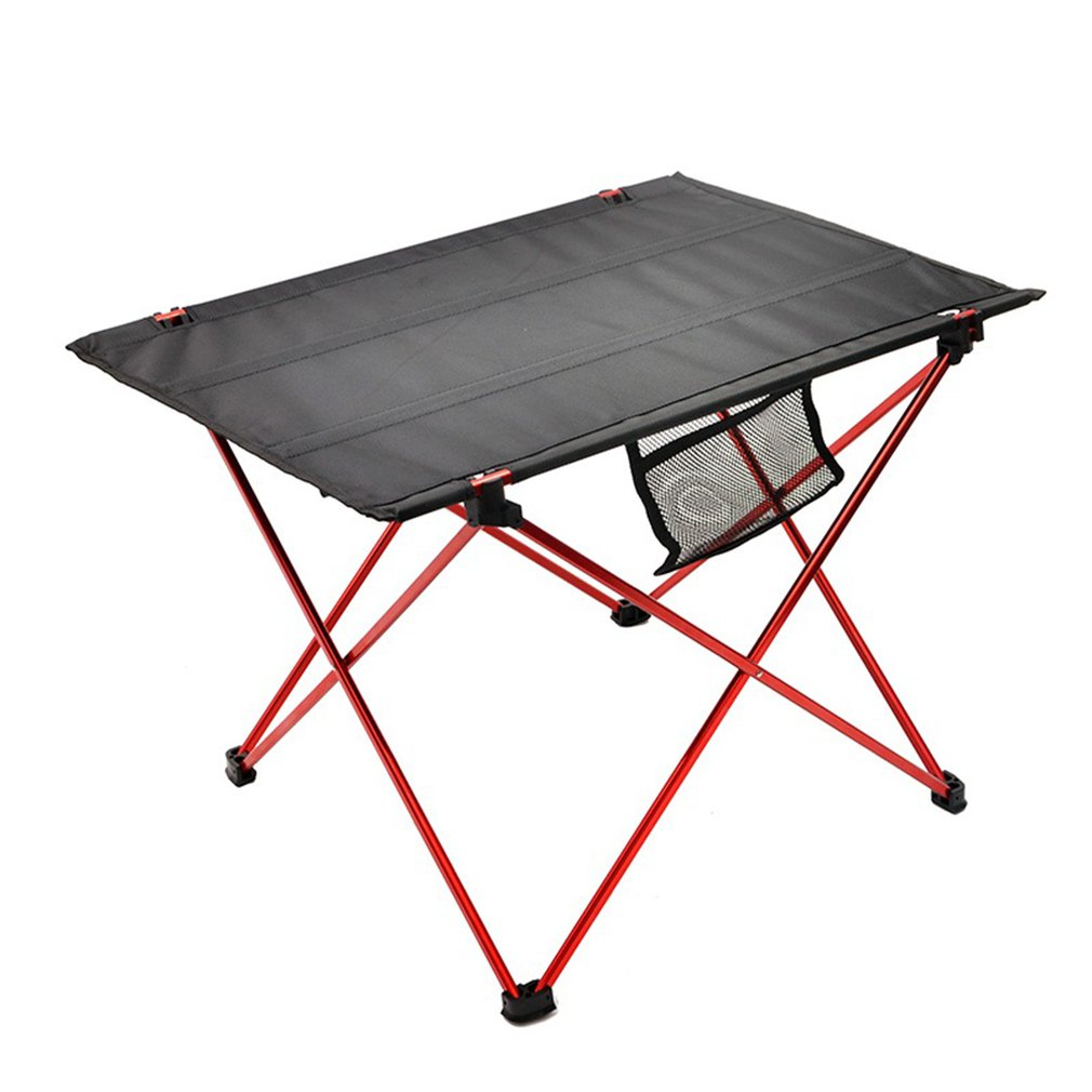 Portable Folding Aluminum Roll Up Table Lightweight Outdoor Camping Picnic Ultra-Light Furniture Camping Table Tea Table
