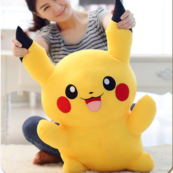 100cm Hot Anime Cartoon Cute Pikachu Plush Toys Stuffed Lovely Animals Doll Soft Baby Pillow for Kids Girls Birthday Xmas Gifts fancytrader large plush bunny doll lovely soft stuffed cartoon rabbit kids toys gifts pink purple for chilren 100cm