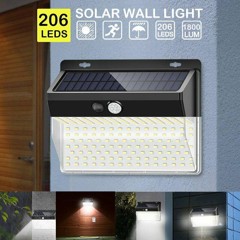 206 LED Solar Garden Light Solar Energy Outdoor LED Solar Light Wireless Wall Lamp IP65 Light With Led Street Light|Solar Lamps| |  - title=