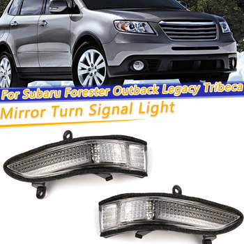 цена на Car Rear View Side Mirror Turn Signal Light For Subaru Forester Outback Legacy Tribeca LED Rearview Mirror Repeater Lamp