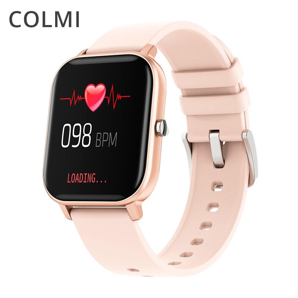 COLMI-P8 Smart Watch IPX7 Waterproof Heart Rate Monitor Multiple Sports Fitness Tracker Men and Women Fitness Tracker PK B57(China)