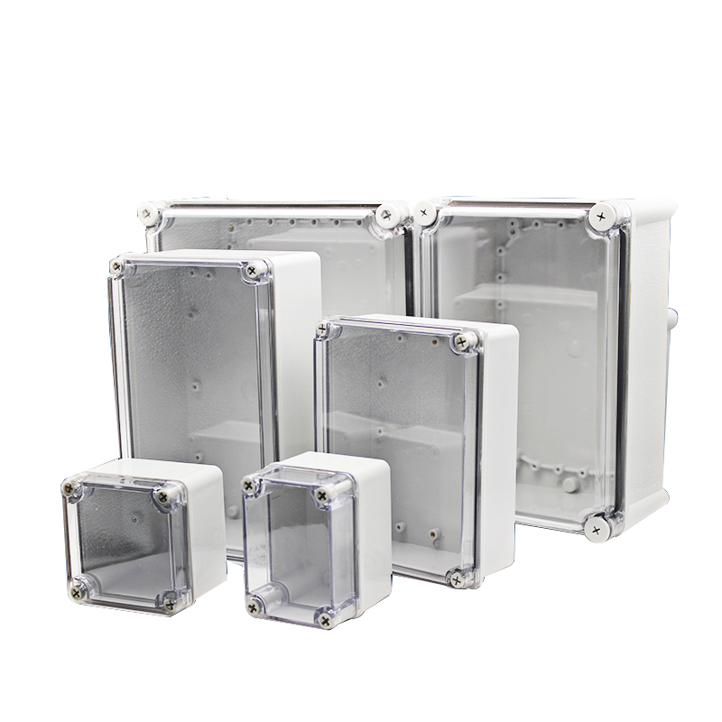 Waterproof junction box IP67 outdoor electrical box transparent cover ABS plastic sealed box waterproof box instrument box