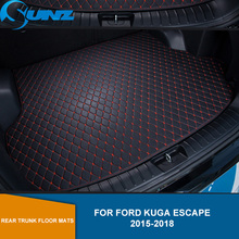 new 3d floor mats for ford ecosport 2014 2015 2016 element carfrd00025k delivery from russia Rear Trunk Floor Mats For Ford Kuga Escape 2015 2016 2017 2018 Leather Rear Cargo Trunk Floor Mats SUNZ