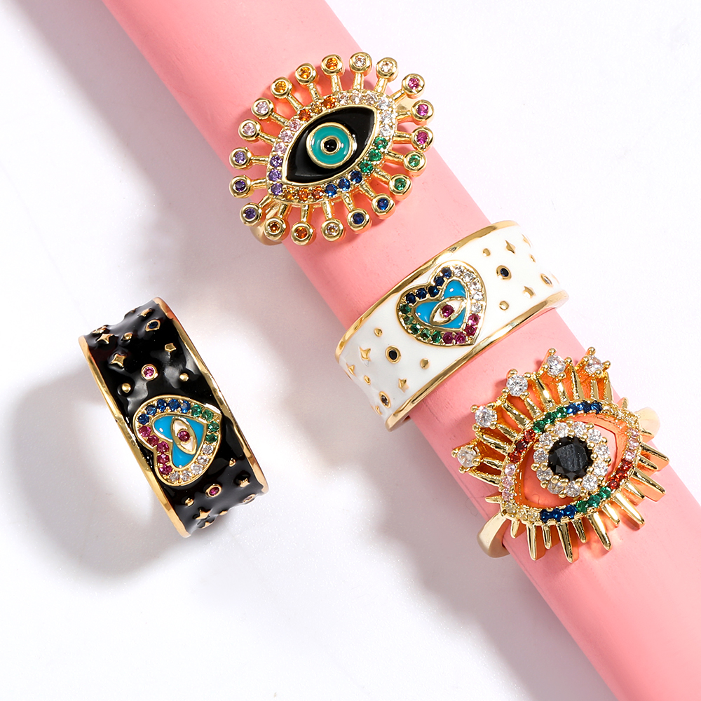 Rings for Women 2020 New Summer Simple Copper Eye Ring Banquet Jewelry Engagement Ring Wedding Rings