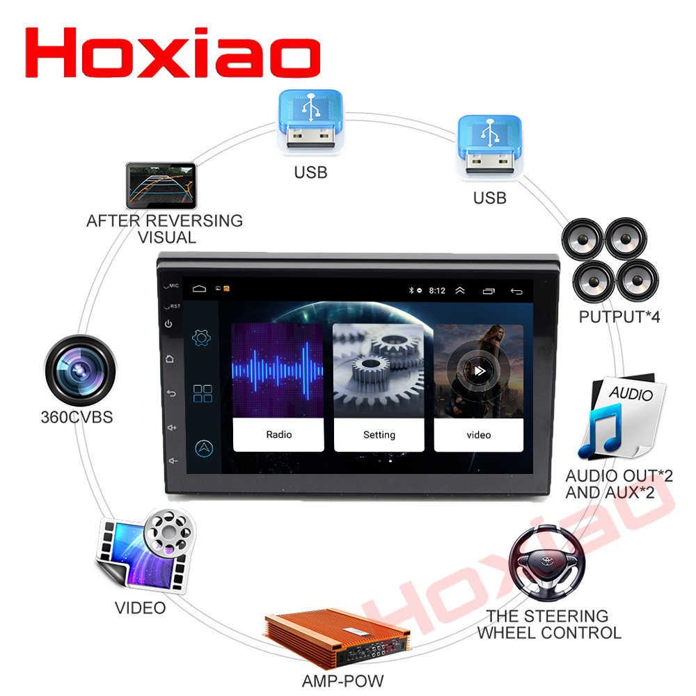 Hoxiao 2 DIN 7 pulgadas Android 8,1 pantalla táctil coche reproductor Multimedia Bluetooth GPS WiFi navegador FM reproductor de Radio cámara de vehículo