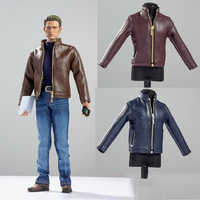In stock 1/6 Scale CEN M10 Male Figure Accessory leather jacket shirt & jeans & shoes for 12'' Action Figures Model Body