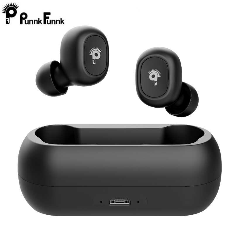 Tws bezprzewodowe słuchawki douszne Bluetooth 5.0 słuchawki aktywna redukcja szumów stereofoniczny zestaw słuchawkowy ze wzmocnieniem basów Mini w uchu podwójny mikrofon z skrzynka do ładowania