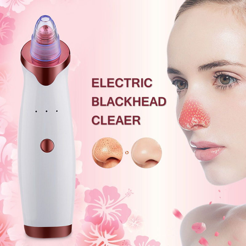 Rechargable Blackhead Remover Face Vacuum Suction Deep Pore Cleaner Acne Pimple Facial SPA Diamond Beauty Skin Care Tool