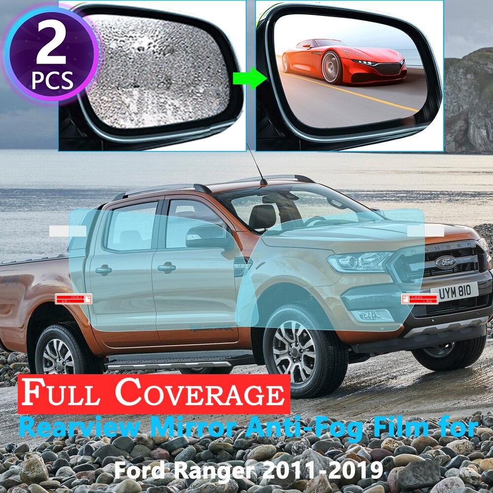 Полноэкранная Защитная противотуманная пленка для автомобильного зеркала заднего вида Ford Ranger T6 2011 ~ 2019, непромокаемые аксессуары для автом...