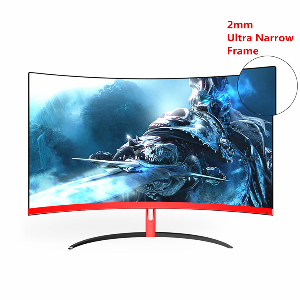 Wearson 32 Inch Curved Gaming Monitor 1800R 75Hz Frameless With HDMI VGA Audio,VESA,FreeSync,Flicker-Free,Eye Care Tech