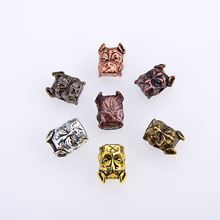 10PCS/ package Vintage Dog Head DIY Beads Accessories Charms For Mens Bracelet Necklace Making Wholesale