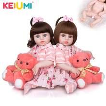 Keiumi reborn baby 49 см реалистичные силиконовые тела Близнецы