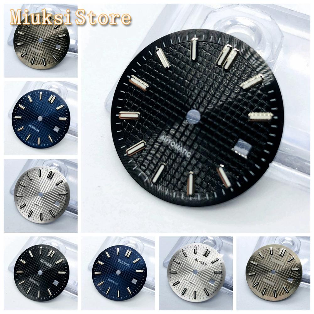 1PCS 31mm Sterile Blue Black Silver Gray Watch Dial Fit ETA2836/2824 Mingzhu DG2813/3804 Miyota8215 821A 8205 Automatic Movement
