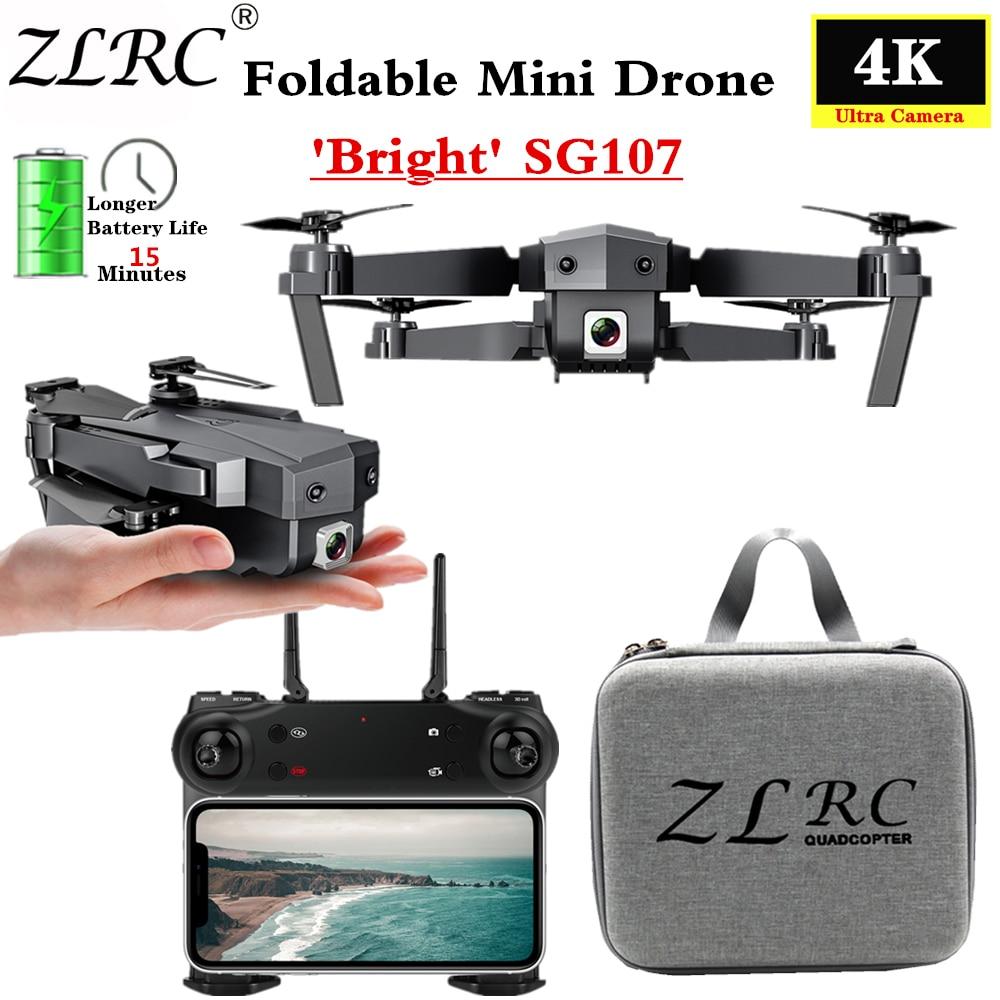 SG107 Mini Drone with Wifi FPV 1080P 4K HD Camera Optical Flow RC Quadcopter Follow Me Mini Dron Foldable Helicopter VS E58 E68