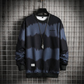 Модная легкая Толстовка 2020 черная полосатая весенне-осенняя свободная повседневная мужская уличная одежда в стиле хип-хоп с нашивкой