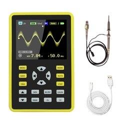 5012H 2,4 дюймовый ЖК-дисплей Портативный цифровой мини-осциллограф с полосой пропускания 100 МГц и частотой дискретизации 500 мс/с