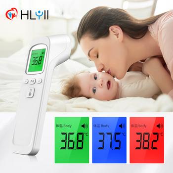 Domu gorączka na podczerwień termometr do ucha cyfrowy dziecko dorosłych nie-skontaktuj się z Laser ciała temperatury termometr termometr na czoło thermometer thermometers tanie i dobre opinie JZIKI Z Chin Kontynentalnych