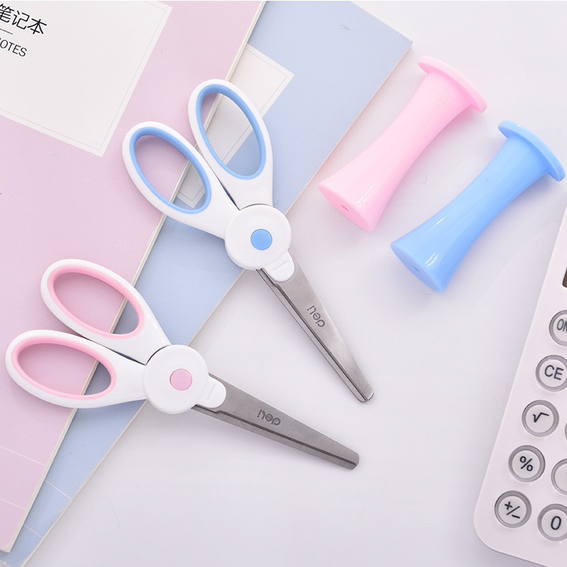Kawii Rabbit Safety Scissors For Kids Children Metal And Plastic DIY Scrapbooking Photo Colors Scissors Paper Fitting School