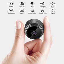 rfvthf  Mini WIFI Camera HD 1080P Video Camera Wide-angle Lens Infrared Night Vision Network Intelligent Monitoring Home Spy