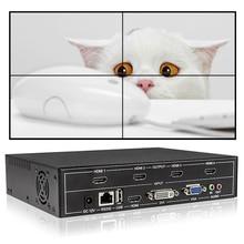Controlador de pared de vídeo 2x2, compatible con DVI/HDMI /VGA/USB, entrada a 4X salida HDMI con control de audio y RS232