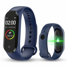 Hot M4 Smart band Fitness Tracker Watch Sport bracelet Heart Rate Blood Pressure Smartband Monitor Health Wristband Tracker(China)