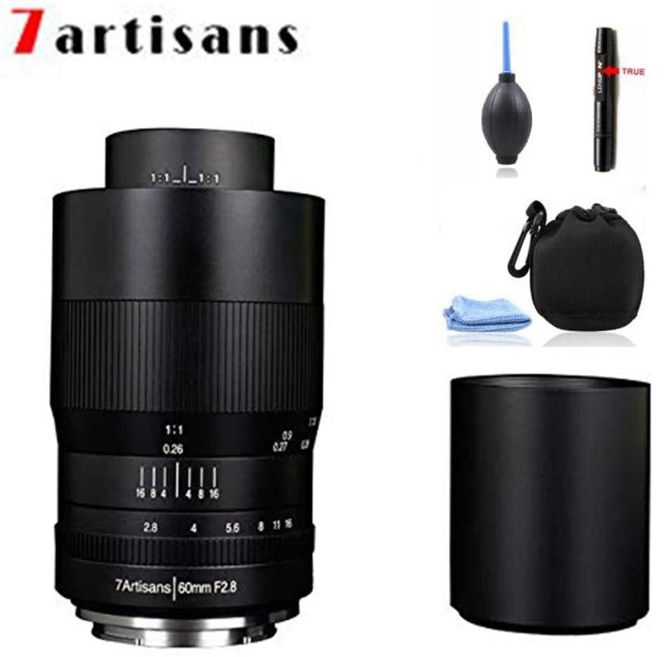 Objectif Macro 7artisans 60mm F2.8 APS-C, objectif fixe à mise au point manuelle pour Micro quatre tiers, caméras sans miroir M4/3