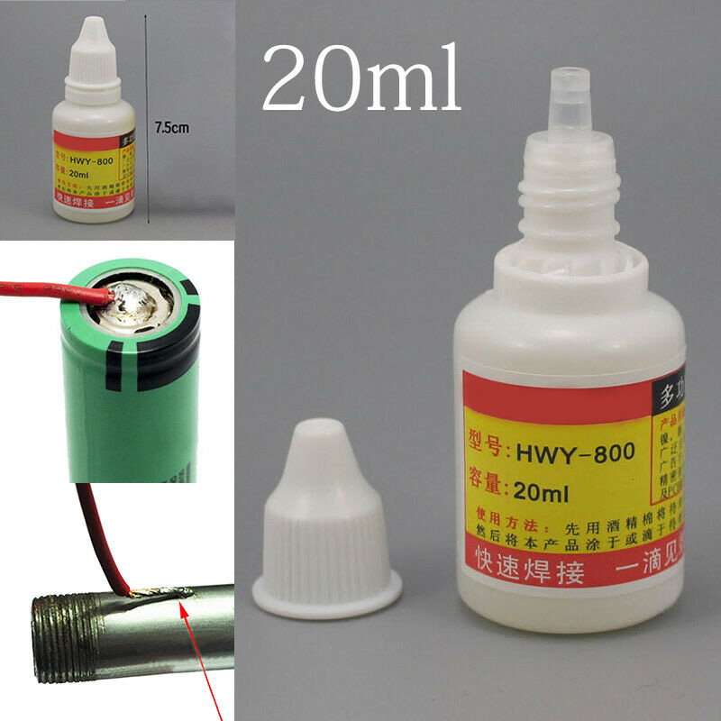 HWY-800 Stainless Steel Flux Liquid Solders Water Welding 20mL Non-toxic Copper Consumables Quick Welding For Nickel Copper Iron