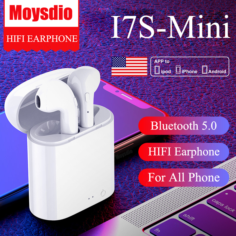 High Quality i7s TWS Mini Wireless Bluetooth Earphones Headphones Stereo Music Earbuds For Ear TWS i7 Iphone Xiaomi image