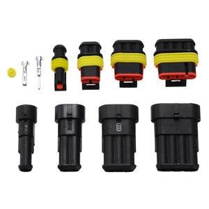 Image 3 - Kit de connecteurs de fils électriques pour voiture, 26 ensembles de connecteurs 1 4 broches, 300V 16a étanche, voiture, pièces de rechange pour la Marine