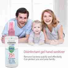 100ml 75% Alcohol Antibacterial Hand Sanitizer Disinfection Spray Family Disposable Quick-Dry Wipe Out Bacteria Hand Sanitizer