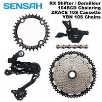 SENSAH MTB Bike Derailleur Shift Kit RX 10S Shifter+Rear Derailleur+42T/46T Cassette+YBN X10 Chain Group Set, PCR BEYOND M6000