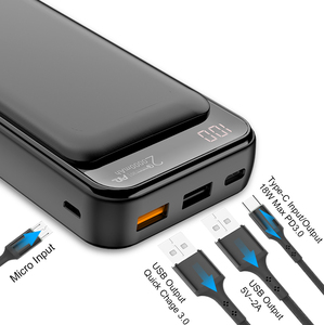 Image 2 - Jellico Power Bank 20000 Mah Usb Type C Pd Snelle Oplader Snel Opladen QC3.0 Powerbank Draagbare Externe Batterij Voor Iphone 11