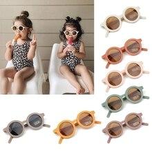 Sunglasses Uv-400-Protection Polarized Round Retro Kid Children Summer