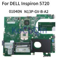 KoCoQin Laptop motherboard For DELL Inspiron 17R 5720 N7720 SLJ8C Mainboard CN 01040N N13P GV B A2 DA0R09MB6H1 for 7720 072P0M