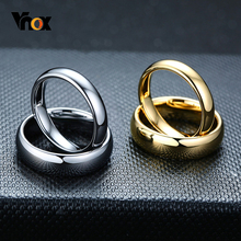 Vnox Anti Scratch Tungsten Wedding Rings for Women Men Simple Classic Wedding Bands