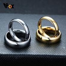 Vnox odporne na zadrapania obrączki wolframowe dla kobiet mężczyzn proste klasyczne obrączki dla par podstawowa biżuteria tanie tanio CN (pochodzenie) TUNGSTEN MIŁOŚNICY Metal Klasyczny Obrączki ślubne ROUND Zgodna ze wszystkimi Fashion VNOX-CTR-012
