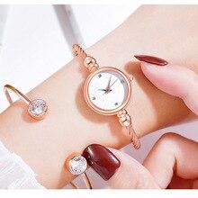 Bracelet Watch Rhinestone Clock Dress Dial Rose-Gold Female Mujer Reloj Luxury Belt Small