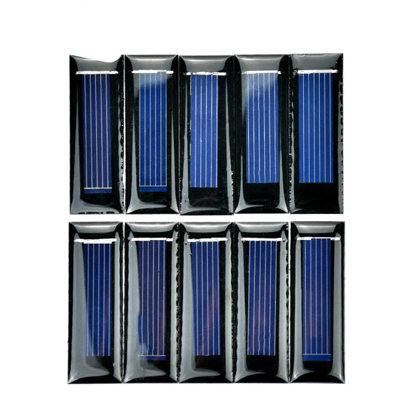SUNYIMA10Pcs Mini Solar Panel New 0.5V 100mA Solar Cells Photovoltaic panels Module Sun Power battery charger DIY 53*18*2.5mm