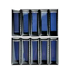 SUNYIMA10Pcs mini panel słoneczny nowy 0 5V 100mA ogniwa słoneczne panele fotowoltaiczne moduł słońce ładowarka akumulatorów DIY 53*18*2 5mm tanie tanio 20 Krzem polikrystaliczny 0 05W Epoxy soalr panel 53mm*18mm Polycrystalline Silicon 5-10 year