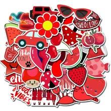 50 шт. красные Мультяшные наклейки Kawaii Girl водонепроницаемые наклейки для багажа автомобиля ноутбука велосипеда мотоцикла ноутбука игрушки наклейки