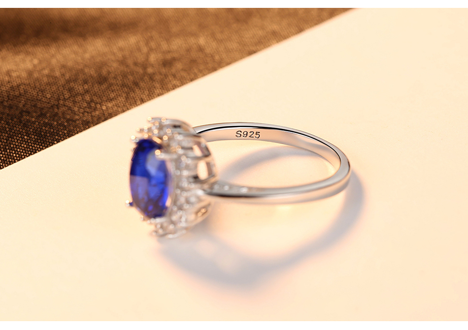 H513ce95b277940d7874a60ce0c9fca54m CZCITY Princess Diana William Kate Gemstone Rings Sapphire Blue Wedding Engagement 925 Sterling Silver Finger Ring for Women